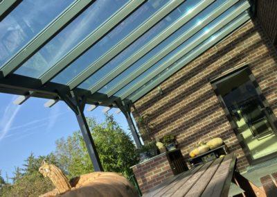 Pergola classique - toit vitré