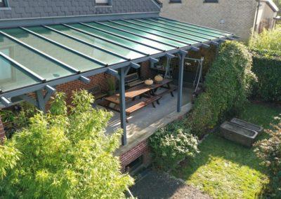 Pergola classique avec toit vitré