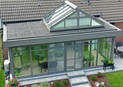 Véranda Pallas - Véranda à toiture plate